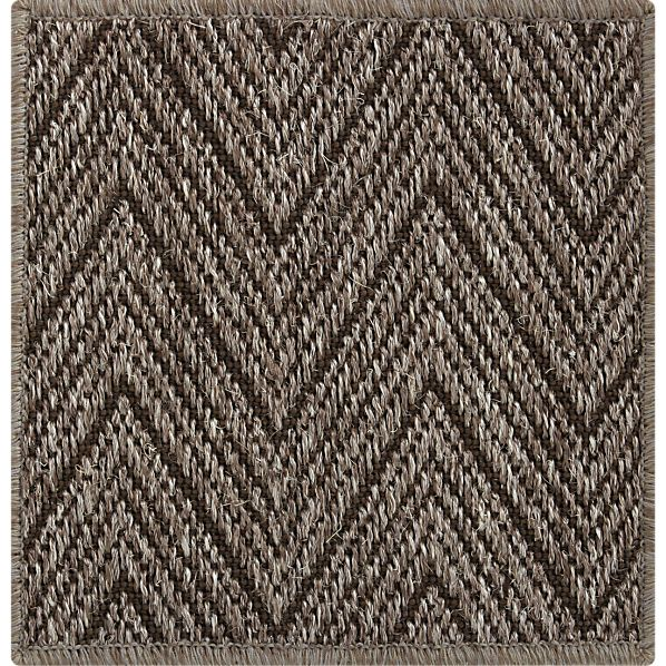 "Island Graphite Chevron 12"" sq. Rug Swatch"