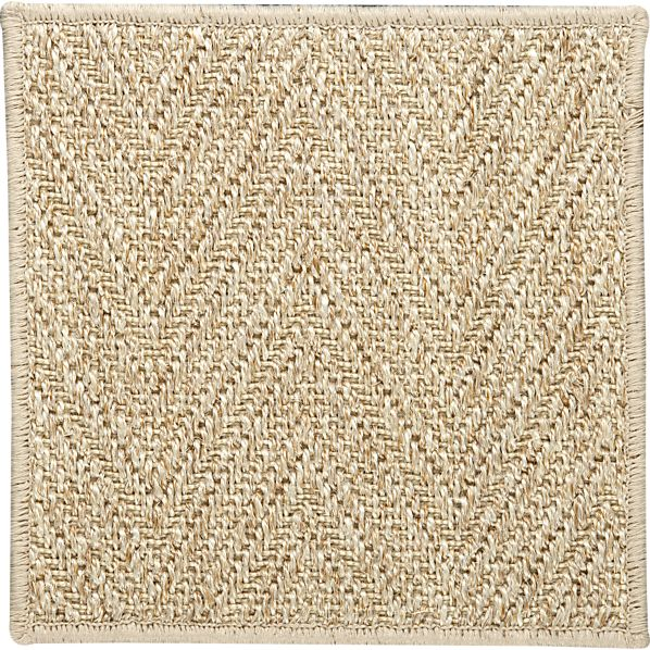 "Island Chvrn Cream 12"" sq. Rug Swatch"
