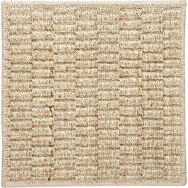 "Island Grid Cream 12"" sq. Rug Swatch"