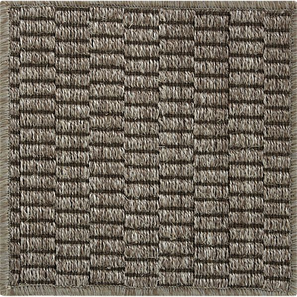 "Island Graphite Grid  12"" sq. Rug Swatch"