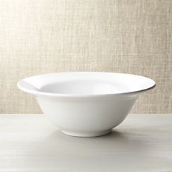 Italian White Ceramic Large Serving Bowl