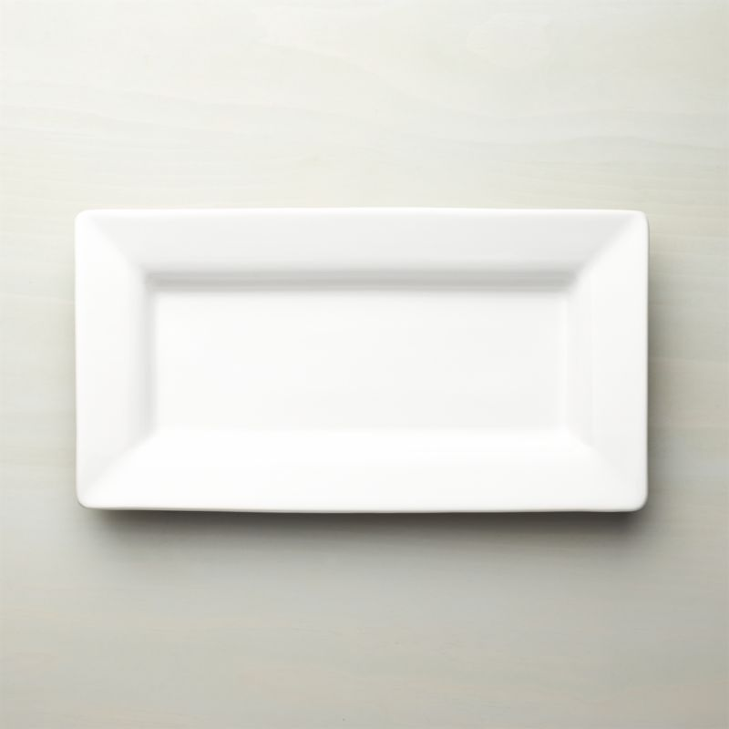 Italian White Ceramic Small Platter