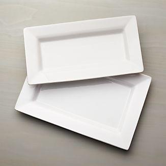 Italian White Ceramic Platters