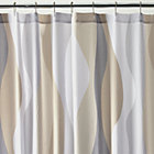 Italian Seersucker Neutral Shower Curtain.