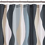Italian Seersucker Blue Shower Curtain