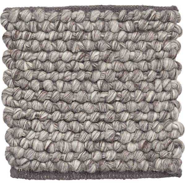 "Ivan Natural Felted Wool 12"" sq. Rug Swatch"