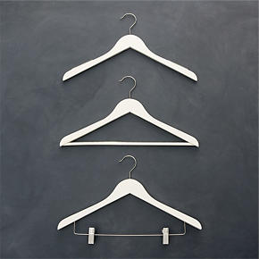 Ivory Clothes Hangers - Ivory Hanger with...