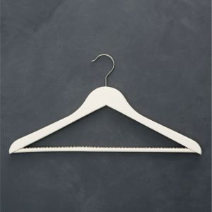 Ivory Suit Hanger with Nonslip Bar