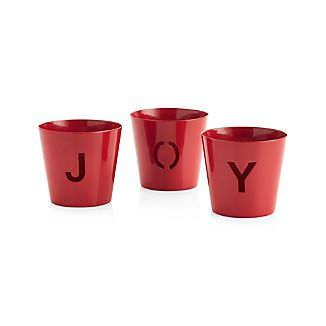 Set of 3 Joy Metal Tea Light Candle Holders