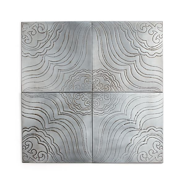 Crate And Barrel Outdoor Wall Decor : Set of jacinto metal wall art