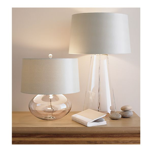 clear glass lamp inspired by crate barrel s zak lamp that costs 229. Black Bedroom Furniture Sets. Home Design Ideas