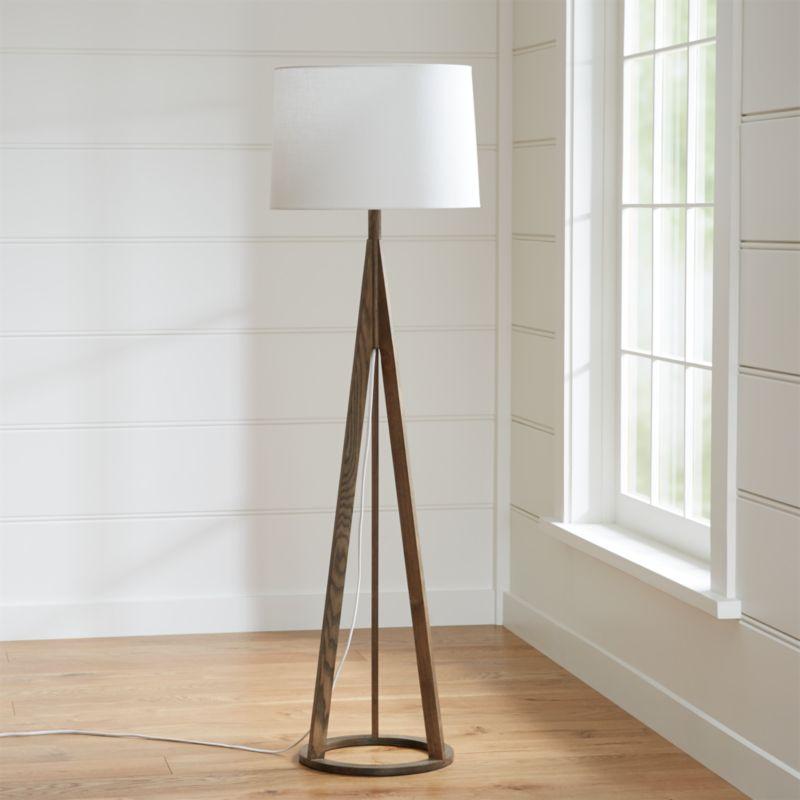 jackson dark brown floor lamp crate and barrel. Black Bedroom Furniture Sets. Home Design Ideas