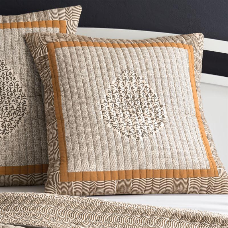 Orange Throw Pillows Crate And Barrel : Jaipur Orange Euro Pillow Sham Crate and Barrel