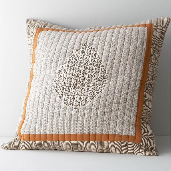 Jaipur Orange Euro Pillow Sham