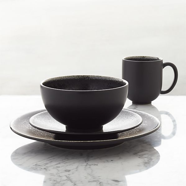 Jars Tourron Black 4-Piece Place Setting