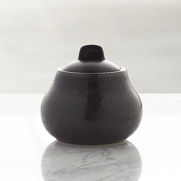 Jars Tourron Black Sugar Bowl with Lid
