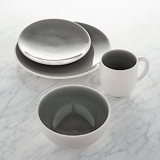 Jars Tourron Grey 4-Piece Place Setting