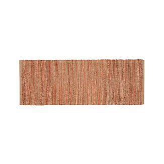 Jarvis Coral Orange Jute-Blend 2.5'x7' Rug Runner
