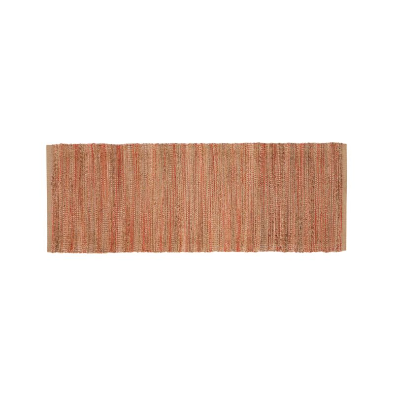 Jarvis Coral Orange Jute-Blend 2.5'x7' Rug Runner