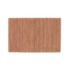Jarvis Coral Orange Jute-Blend 4'x6' Rug