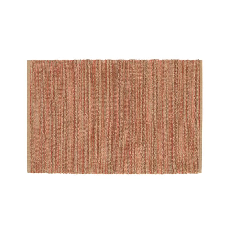 Jarvis Coral Orange Jute-Blend 4'x6' Rug
