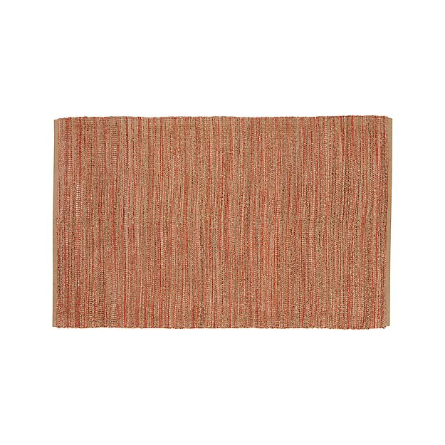 Jarvis Coral Orange Jute-Blend 5'x8' Rug