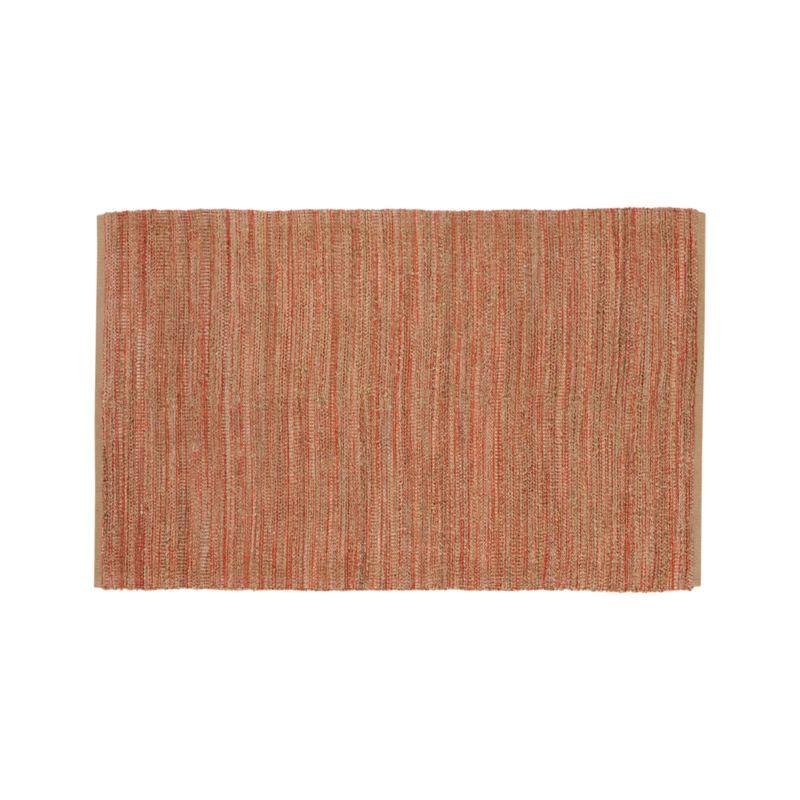 Jarvis Coral Orange Jute-Blend 5'x8' Rug