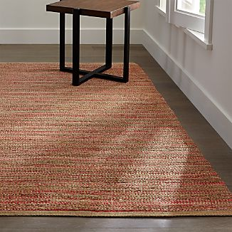 Jarvis Coral Orange Jute-Blend Rug