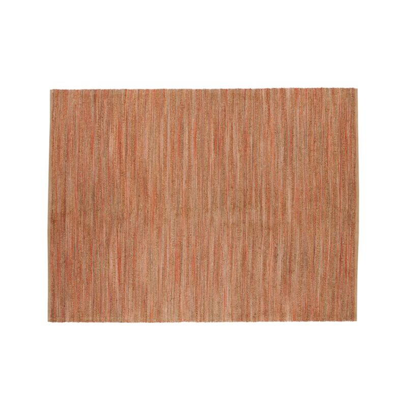 Jarvis Coral Orange Jute Blend 9 X12 Rug Crate And Barrel