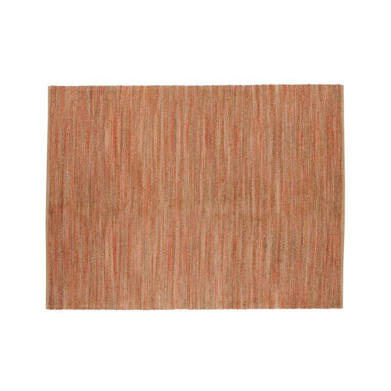 Jarvis Coral Orange Jute-Blend 9'x12' Rug