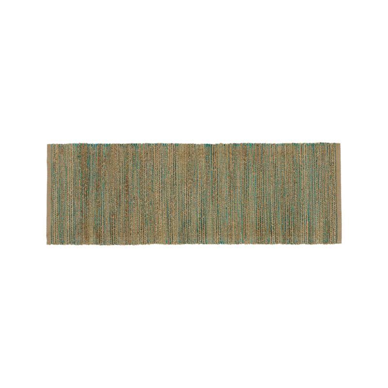 Jarvis Teal Blue Jute-Blend 2.5'x7' Rug Runner