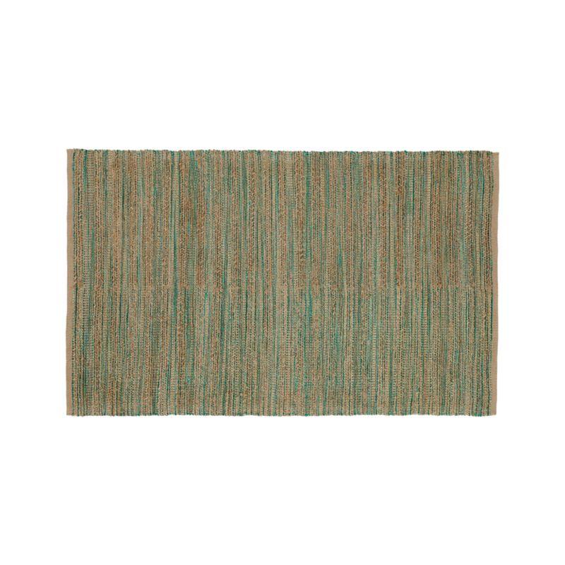 Jarvis Teal Blue Jute-Blend 5'x8' Rug