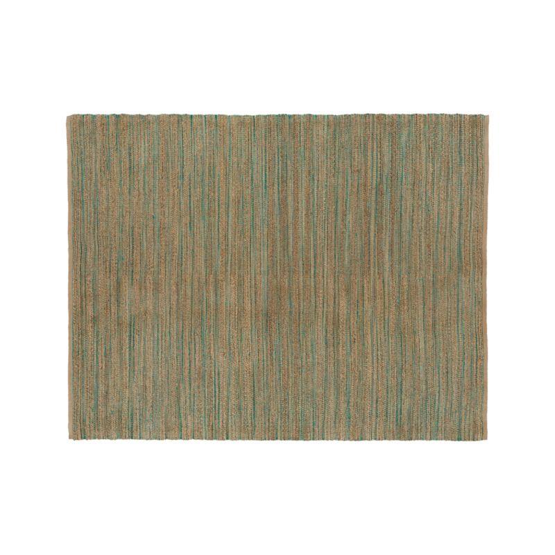 Jarvis Teal Blue Jute-Blend 8'x10' Rug