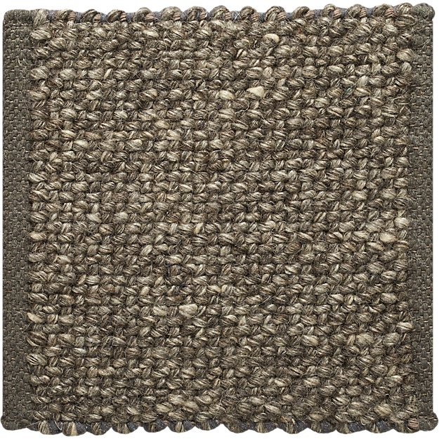 "Jasper Grey Wool-Blend 12"" sq. Rug Swatch"
