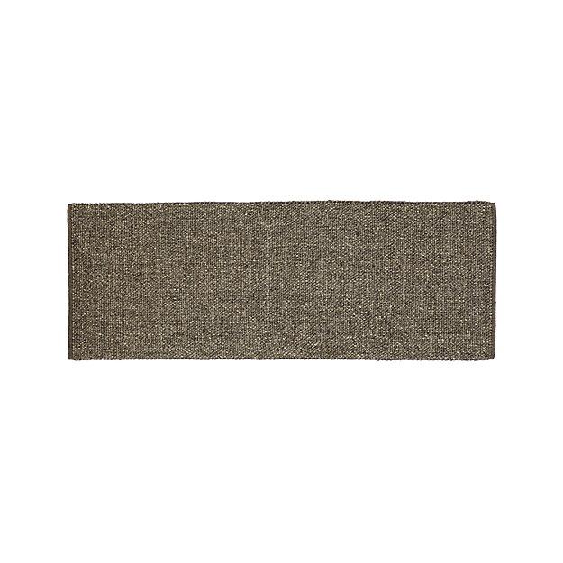 Jasper Grey Wool-Blend 2.5'x7' Rug Runner