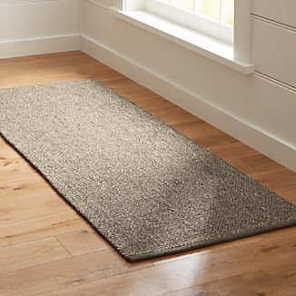 Jasper Grey Wool-Blend 2.5'x7' Rug Runner