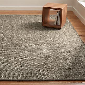 Jasper Grey Wool-Blend Rug