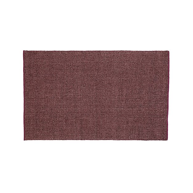 Jasper Plum Wool-Blend 5'x8' Rug