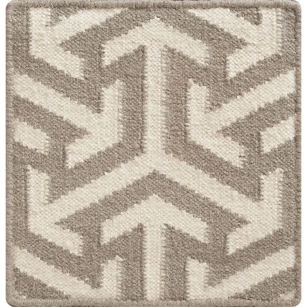 "Jasper Grey 12"" sq. Rug Swatch"
