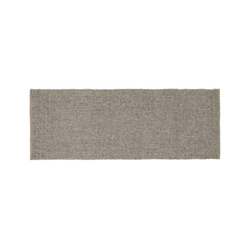 Jasper Taupe 2.5'x7' Wool-Blend Rug Runner