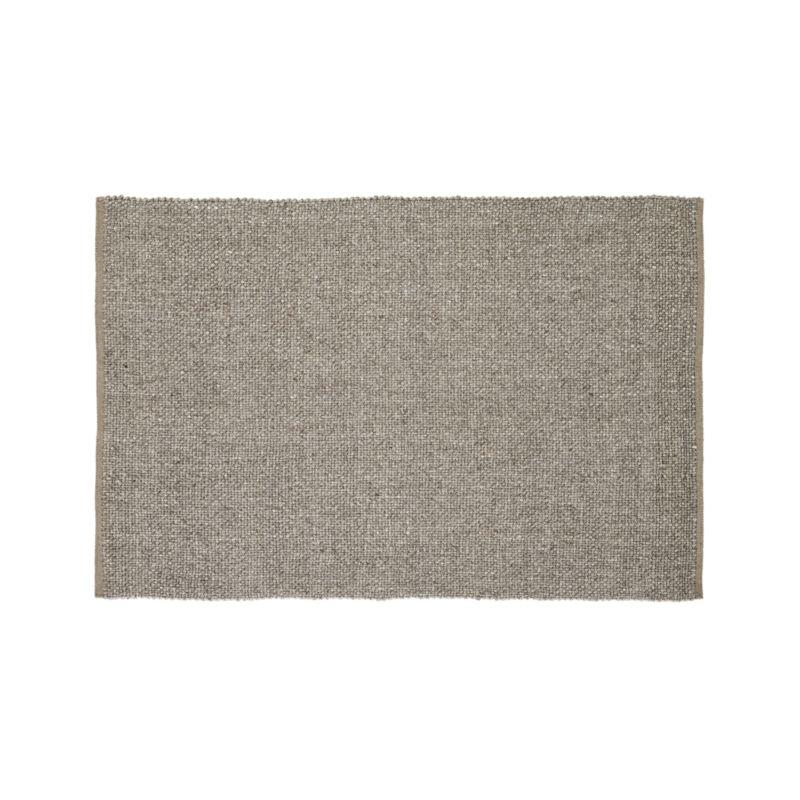 Jasper Taupe Wool-Blend 4'x6' Rug