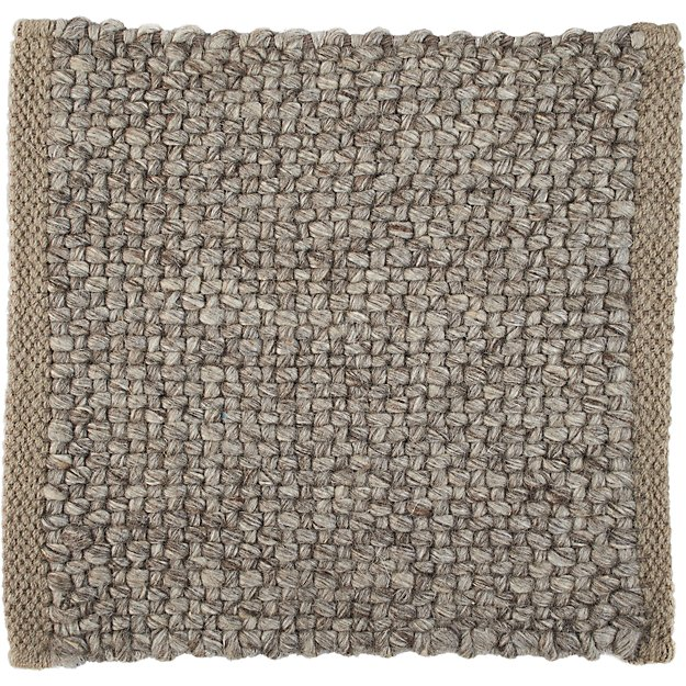 "Jasper Taupe Wool-Blend 12"" sq. Rug Swatch"