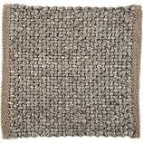 "Jasper Taupe Wool-Blend 12"" sq. Rug Swatch"