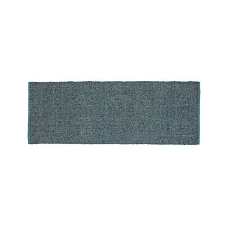 Jasper Teal Wool-Blend 2.5'x7' Rug Runner