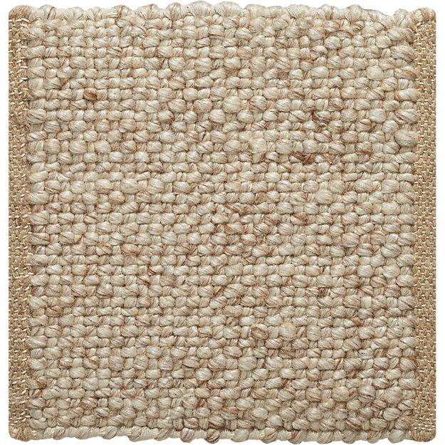 Jasper Wheat Wool-Blend 12' sq. Rug Swatch