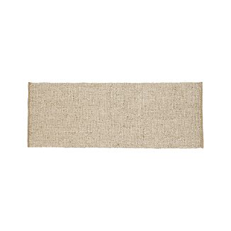 Jasper Wheat Wool-Blend 2.5'x7' Rug Runner