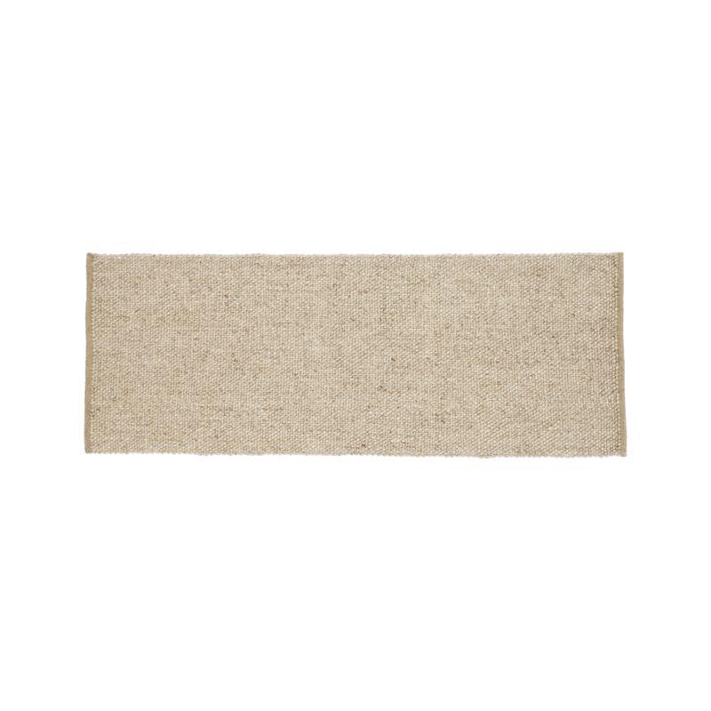 Jasper Wheat Wool-Blend 2.5'x7' Rug Runner