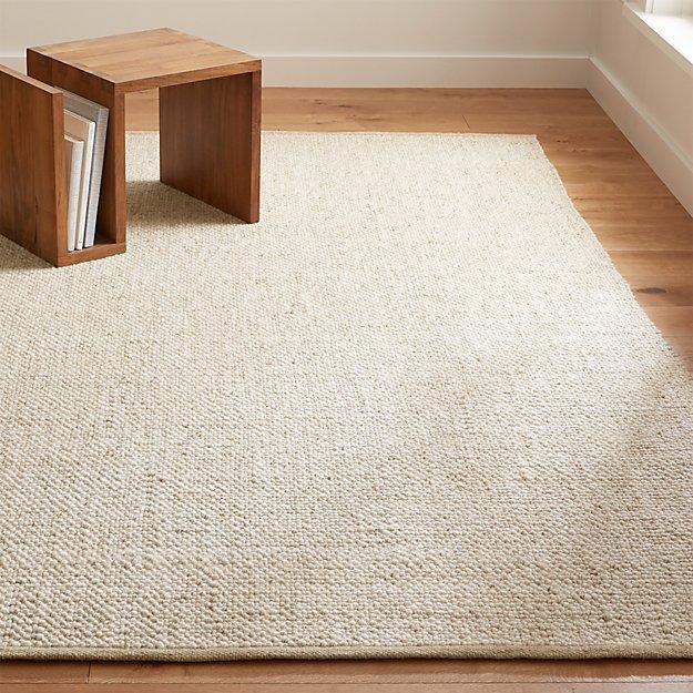 Jasper Wheat Wool-Blend Rug