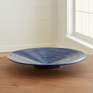 Jelena Indigo Blue Ceramic Centerpiece Bowl