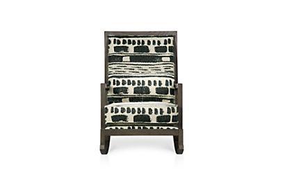 Jeremiah Fabric Back Rocking Chair Brahms Midnight